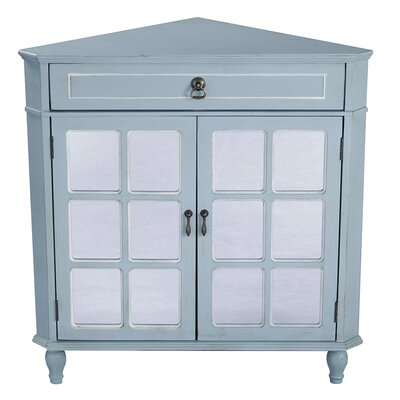 1 Drawer 2 Door Acccent Cabinet Color: Blue