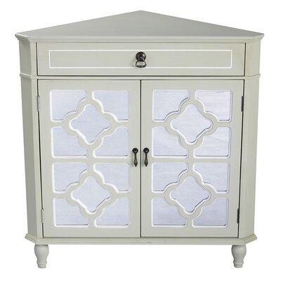 1 Drawer 2 Door Accent Cabinet Finish: Cream