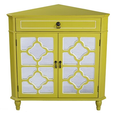 1 Drawer 2 Door Accent Cabinet Finish: Yellow