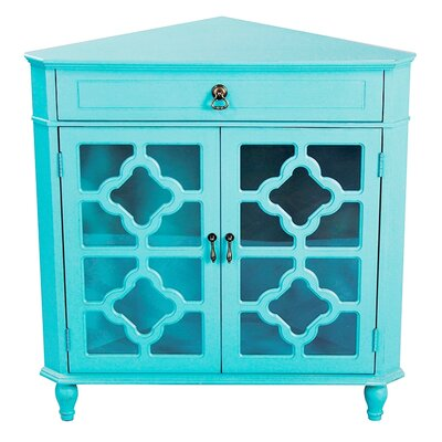 Moretown 1 Drawer 2 Door Accent Cabinet Color: Turquoise