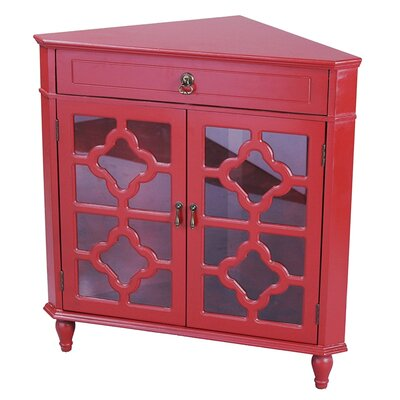 Moretown 1 Drawer 2 Door Accent Cabinet Color: Red
