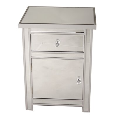 1 Drawer 1 Door Accent Cabinet Color: Silver
