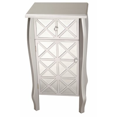 1 Drawer 1 Door Bombay Accent Cabinet Color: Smoke Silver