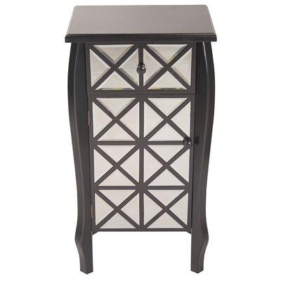 1 Drawer 1 Door Bombay Accent Cabinet Color: Black