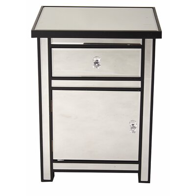 1 Drawer 1 Door Accent Cabinet Color: Black
