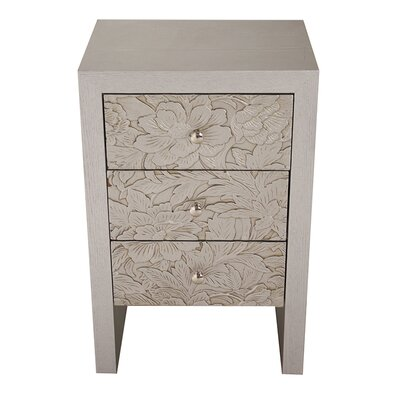 3 Drawer Accent Chest Color: Silver