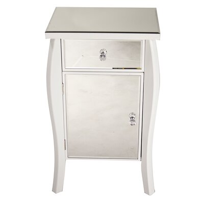 1 Drawer 1 Door Bombay Accent Cabinet Color: White