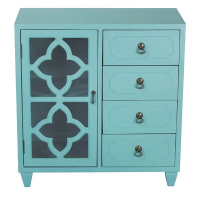 4 Drawer Accent Cabinet Finish: Tourquoise