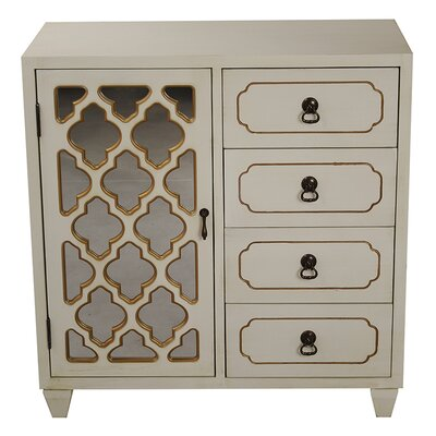 4 Drawer Cabinet Finish: Cream
