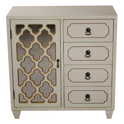 4 Drawer Cabinet Finish: Cream