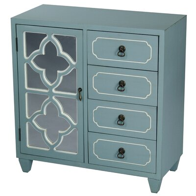 4 Drawer Accent Cabinet Color: Tourquoise