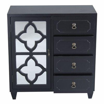 4 Drawer Accent Cabinet Color: Black