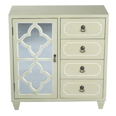 4 Drawer Accent Cabinet Color: Grey