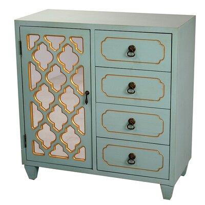 4 Drawer Cabinet Finish: Turquoise