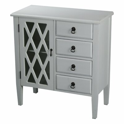 4 Drawer Accent Cabinet Color: Antique White