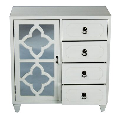 4 Drawer Accent Cabinet Color: White