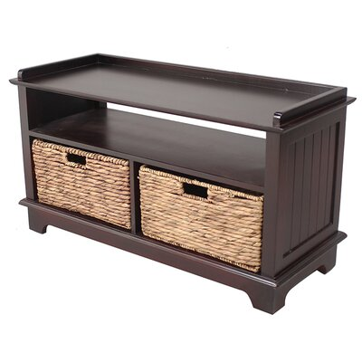 Wood Storage Bench Color: Cherry