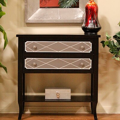 Heirloom Black 2 Drawer Accent Chest