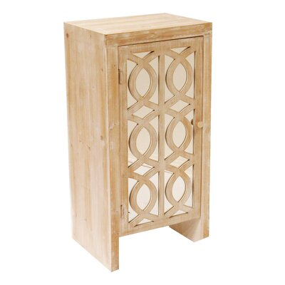 Cabinet with Mirror Accent Cabinet Color: White Wash