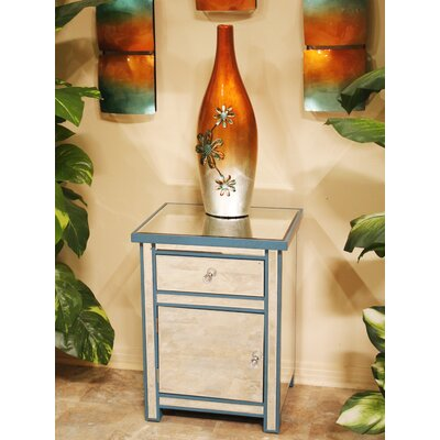 1 Drawer 1 Door Accent Cabinet Color: Blue