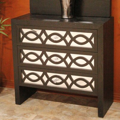 Wood Accent Chest with Mirror