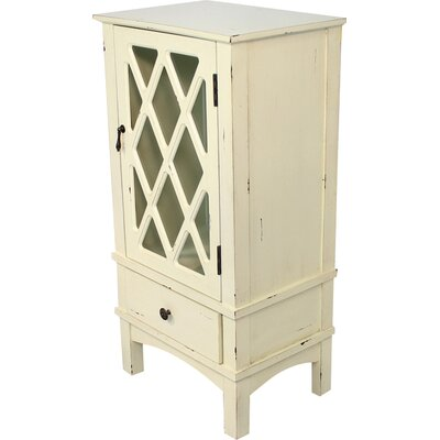 Wooden Accent Cabinet with Mirror Insert Color: White