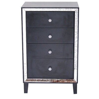 Avery 4 Drawer Accent Chest Color: Black
