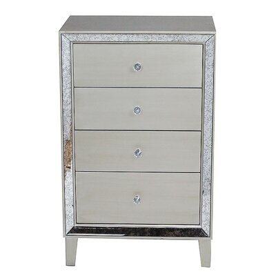 Avery 4 Drawer Accent Chest Color: Silver Champagne
