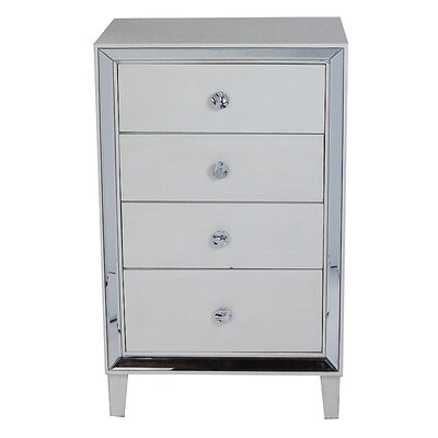 Avery 4 Drawer Accent Chest Color: Antique White