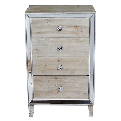 Avery 4 Drawer Accent Chest Color: White Wash