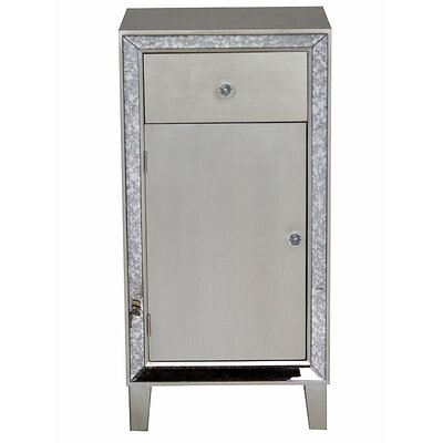 Avery Accent Cabinet Color: Silver Champagne