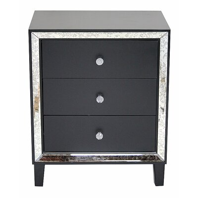 Avery Accent Chest Color: Black