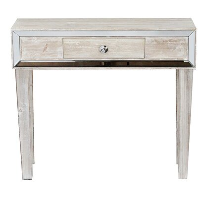 Avery Console Table Color: White Wash