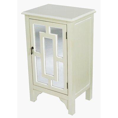 1 Door Accent Cabinet Color: Beige/White