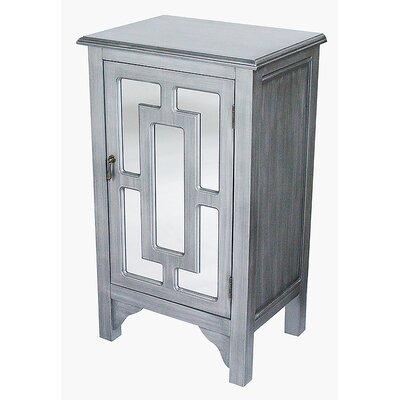 1 Door Accent Cabinet Color: Black Wash