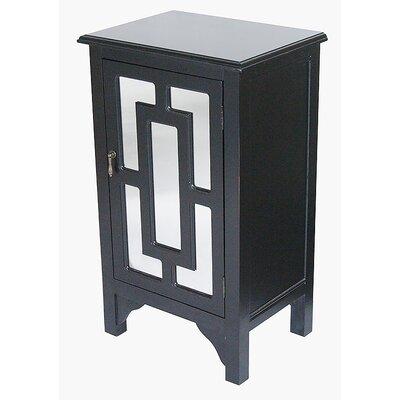 1 Door Accent Cabinet Color: Black