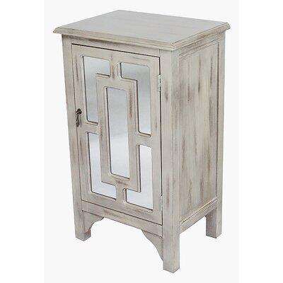 1 Door Accent Cabinet Color: Beige Wash