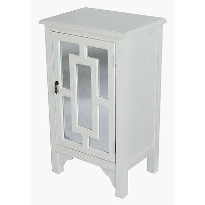 1 Door Accent Cabinet Color: Antique White