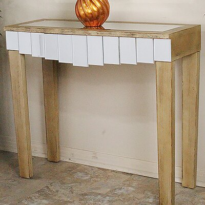 Catherine Mirrored Console Table Color: Distressed Brown