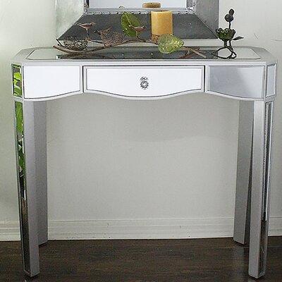 Elizabeth Mirrored Console Table Color: Silver
