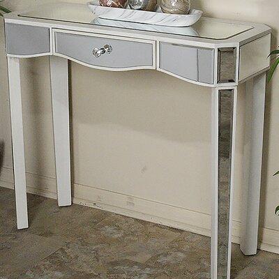 Elizabeth Mirrored Console Table Color: Antique White