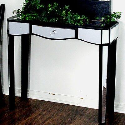 Elizabeth Mirrored Console Table Color: Black