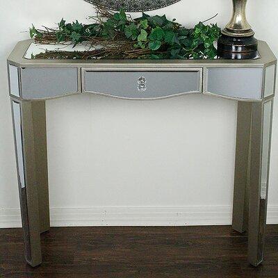 Elizabeth Mirrored Console Table Color: Champagne