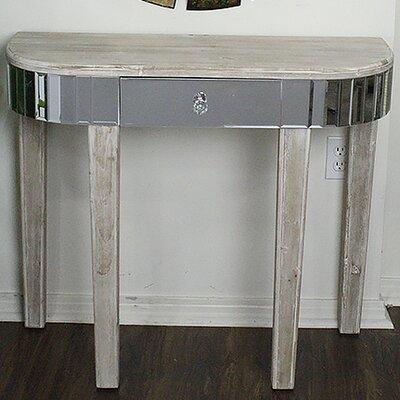 Elenor Mirrored Console Table Color: White Wash