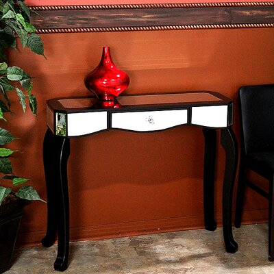 Katrina Console Table Color: Black
