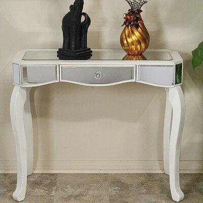 Katrina Console Table Color: Antique White