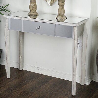 Amelia Console Table Color: White Wash