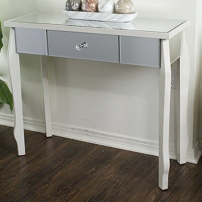 Amelia Console Table Color: Antique White