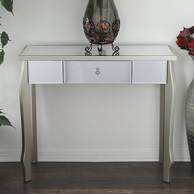 Amelia Console Table Color: Silver Champagne