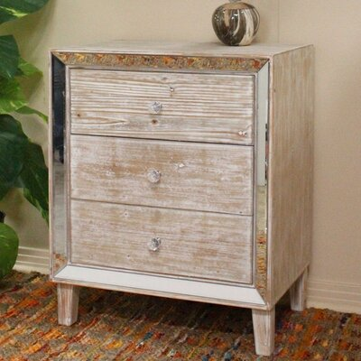 Avery Accent Chest Color: White Wash